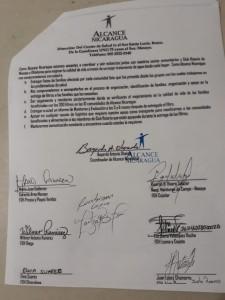 Firma de solicitud - 300 filtros Alcance Nicaragua Rotario Masaya